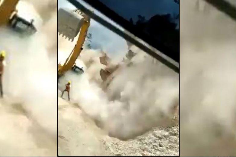 Derrumbe sepulta a trabajadores en región del Istmo