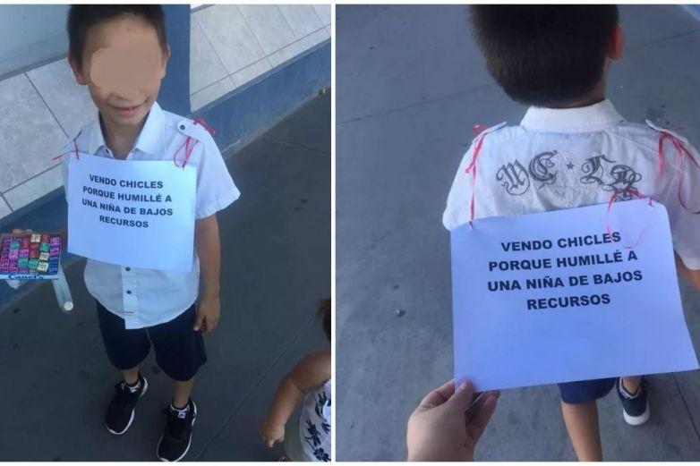 Por burlarse de niña de bajos recursos, obliga a su sobrino a vender chicles