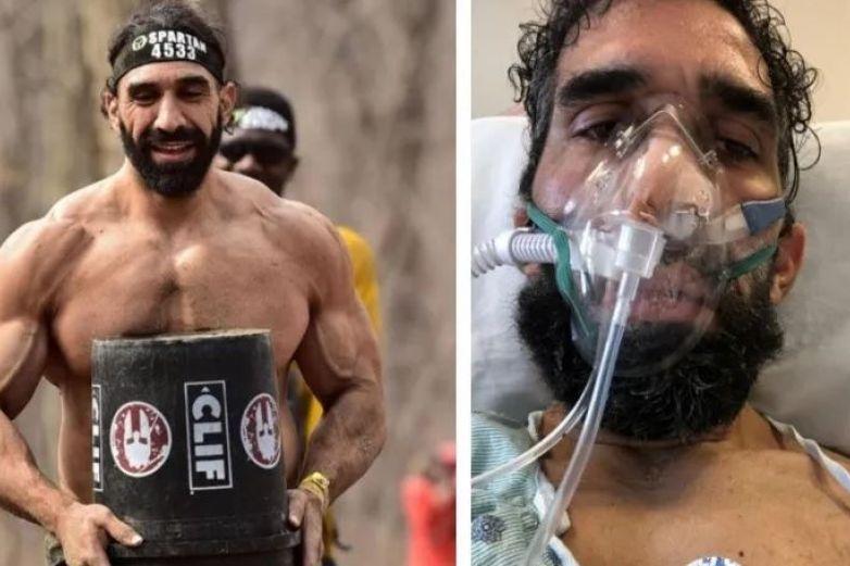 El impactante antes y después de un atleta sobreviviente al Covid-19