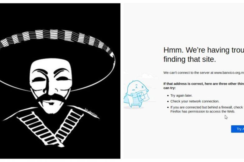 Anonymous hackea página de Banxico