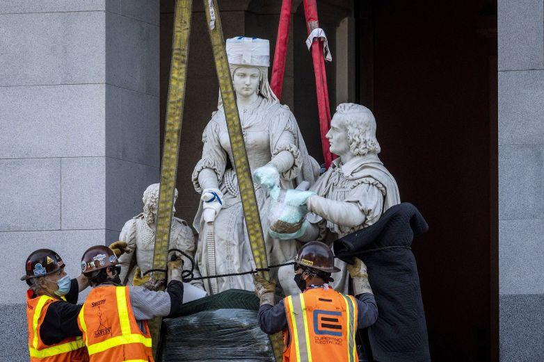 Retiran estatua de Colón del Capitolio de California