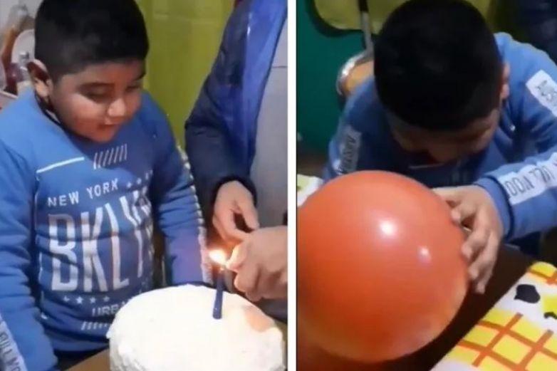 Niño recibe sencillo regalo de cumpleaños y su reacción conmueve