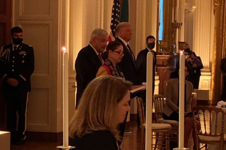 AMLO cena con Trump en Washington