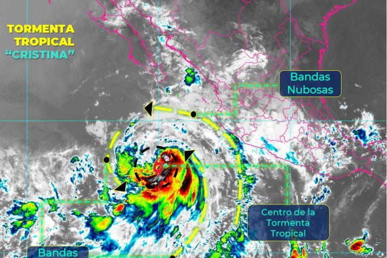 Provocará 'Cristina' lluvias con tormentas eléctricas en BCS