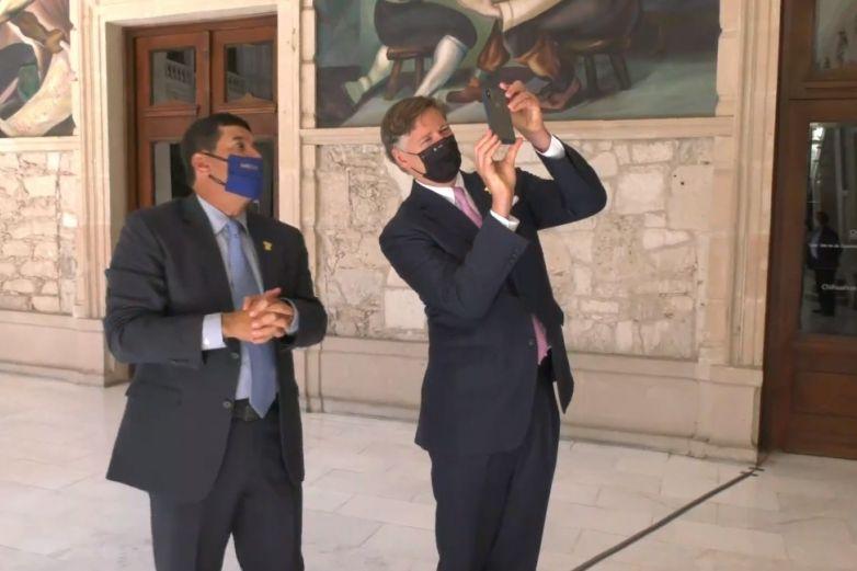 Le fue bien a Corral en la visita del embajador Landau a Chihuahua