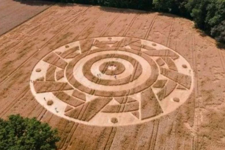 Aparece misterioso círculo en campo de Alemania
