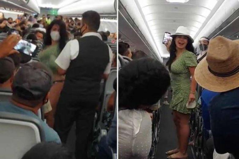 Llaman #LadyCovid a turista a 'impertinente' a bordo de avión en Cancún