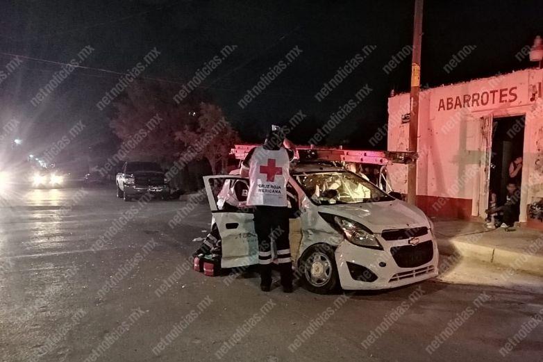 Accidente en la División del Norte; dos lesionados