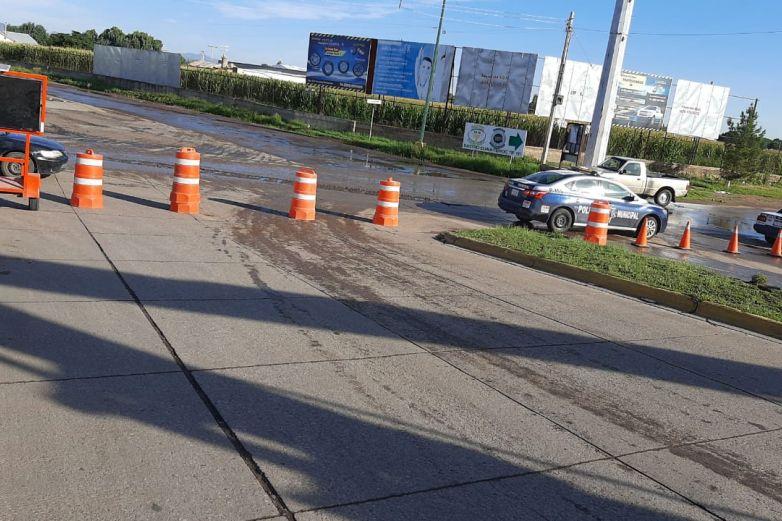 Cierran vialidad la Calzada Cuauhtémoc por obras