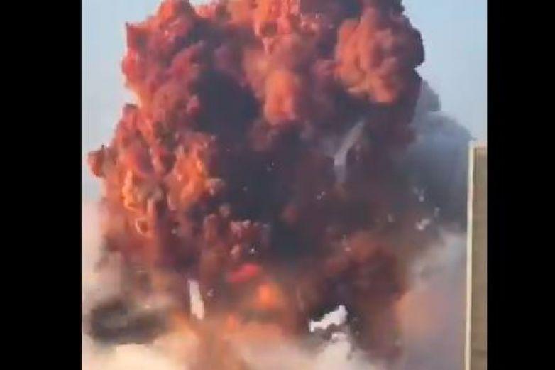 Reportan fuerte explosión en puerto del Líbano