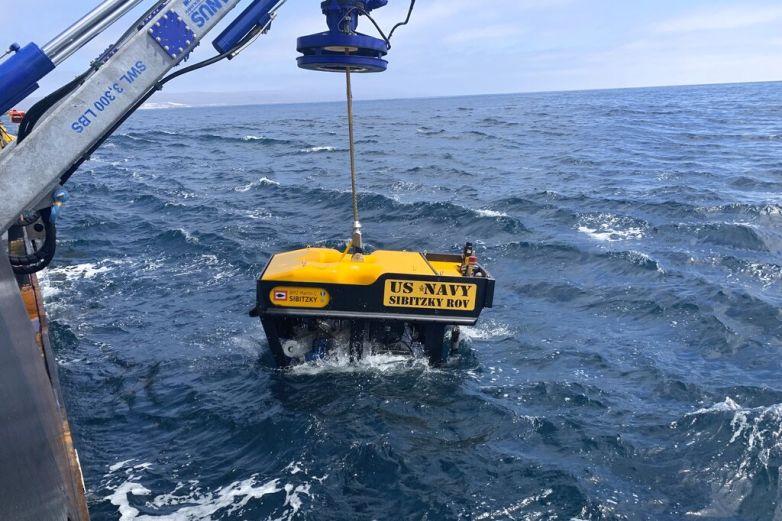 Marina localiza vehículo anfibio hundido frente a California