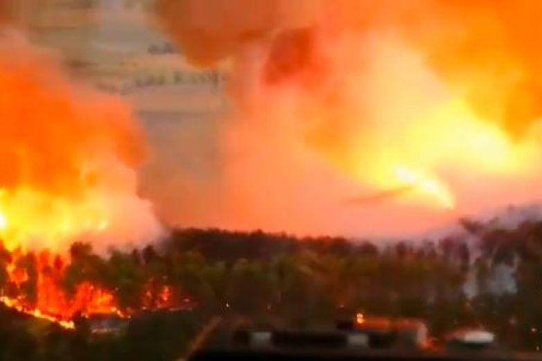 Reportan fuerte incendio forestal en Pamplona
