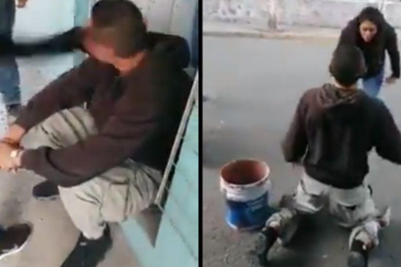 '¿Quieres robar al barrio?', mujer cachetea a ladrón que le robó su celular