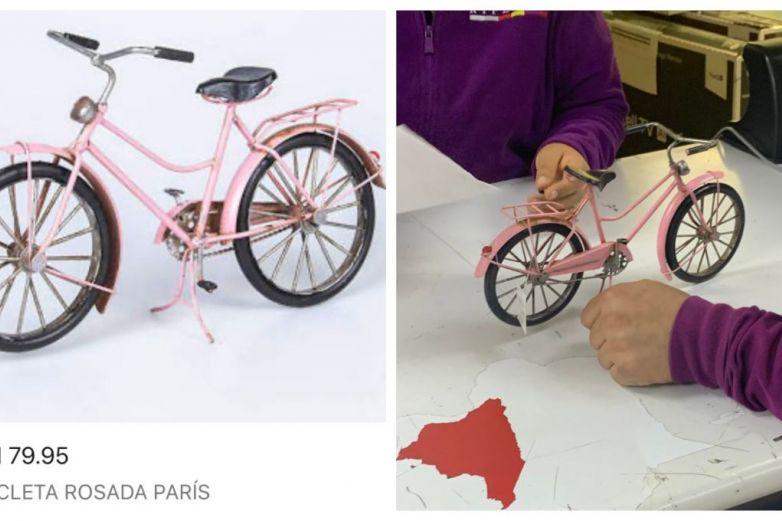 Aprovecha oferta de bicicleta por Internet y resulta ser una miniatura