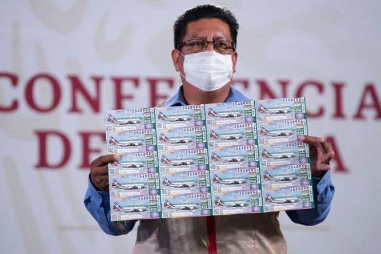 Boletos de rifa de avión que no se vendan serán para sector salud