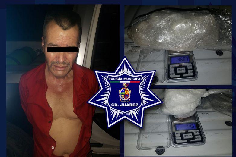 Aseguran más de 500 gramos de cristal y arrestan a 'El Tío'