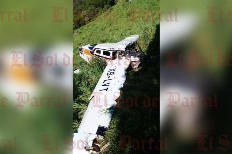 Se desploma en Durango avioneta que despegó de Parral