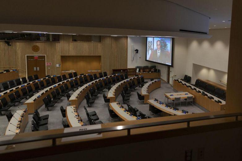 Pandemia causa estragos en Asamblea de la ONU