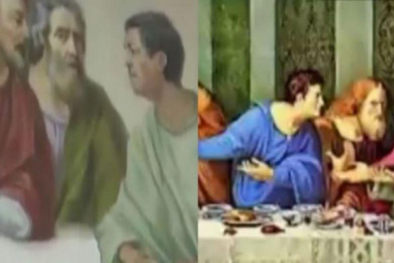 Sacerdote de Puebla se incluye en el cuadro de 'La Última Cena'