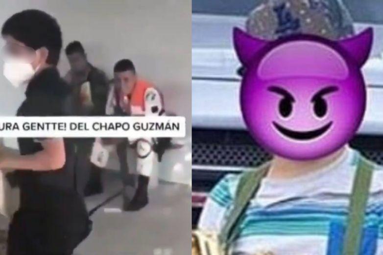 'Pura gente de El Chapo Guzmán'; captan a niño sicario amenazando a militares
