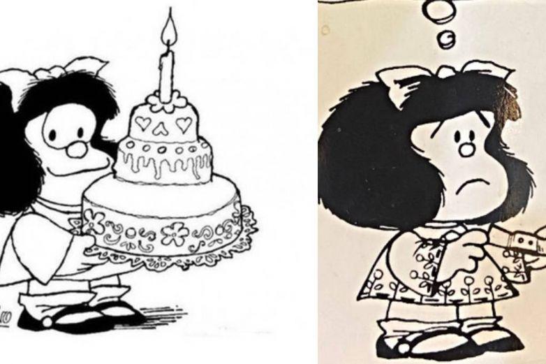 Se viraliza Mafalda llorando tras muerte de Quino