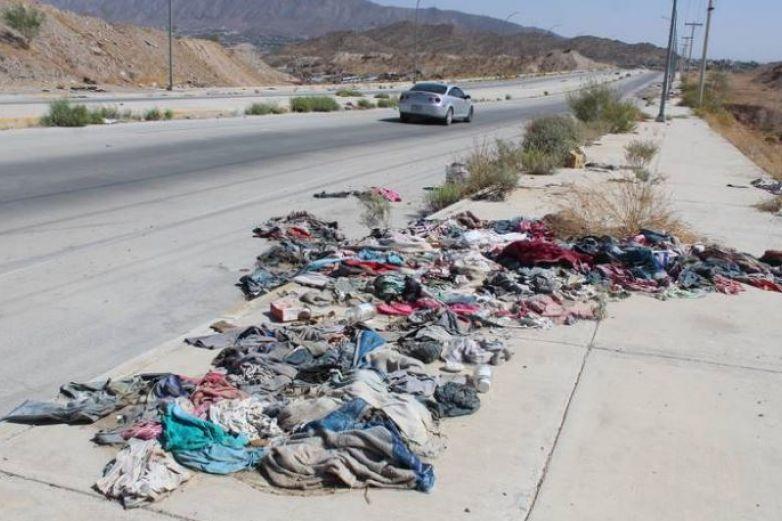 Camino Real, tiradero de basura, muebles y hasta cadáveres