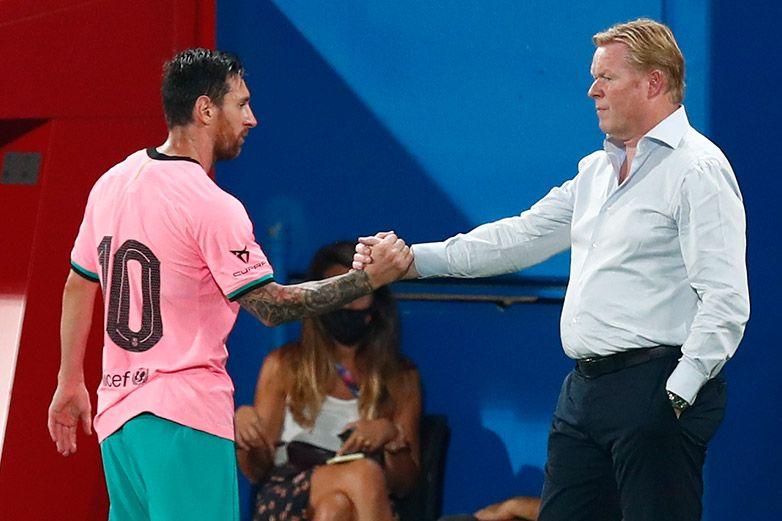 Ronald Koeman elogia el tono conciliador de Messi