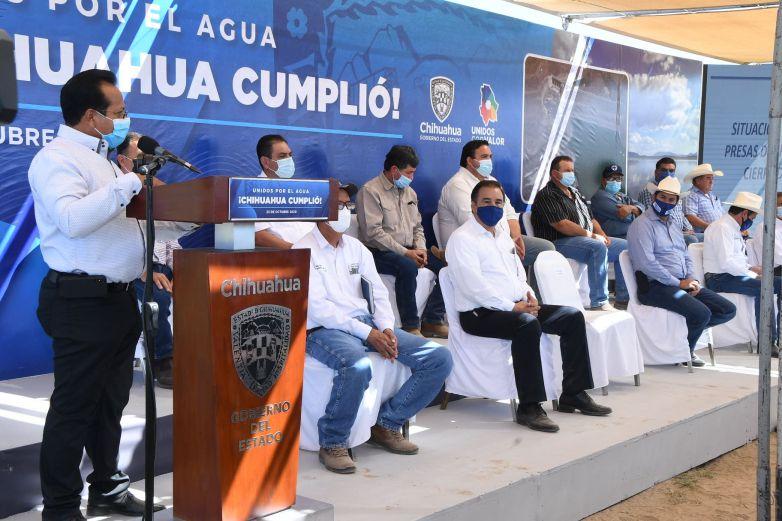 Chihuahua cumplió y con creces en el pago del Tratado: Corral