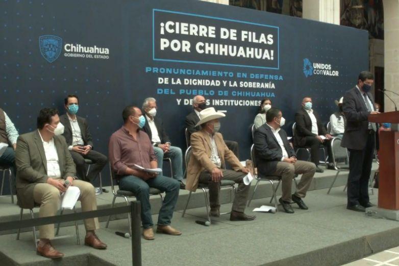 Llama Corral a 'cerrar filas' por Chihuahua