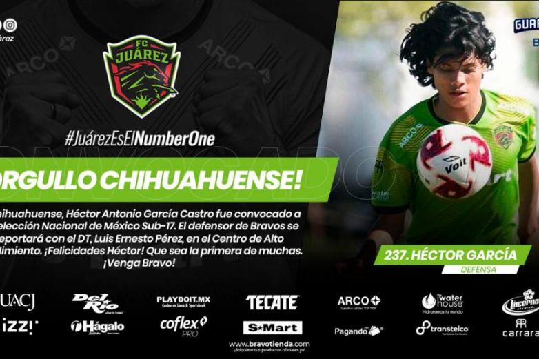 Convoca Selección Sub-17 a chihuahuense de Bravos