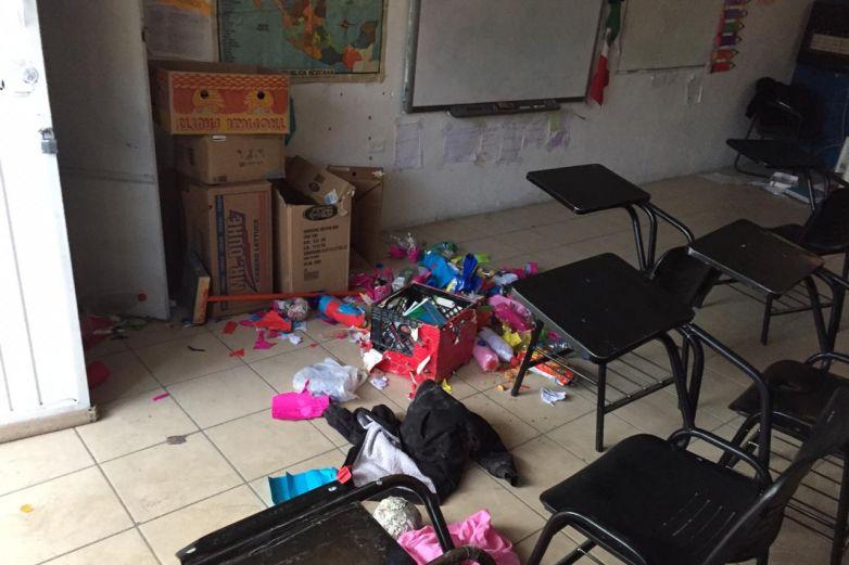 Roban 50 escuelas durante la pandemia