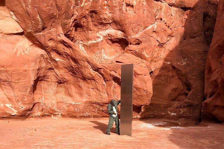 Desaparece monolito hallado en Utah