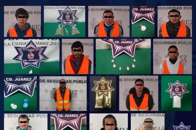 Arresta SSPM a 10 presuntos narcomenudistas