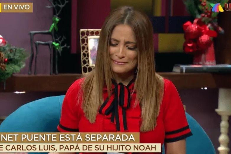 Entre lágrimas, Linet Puente confirma que se separó de su esposo
