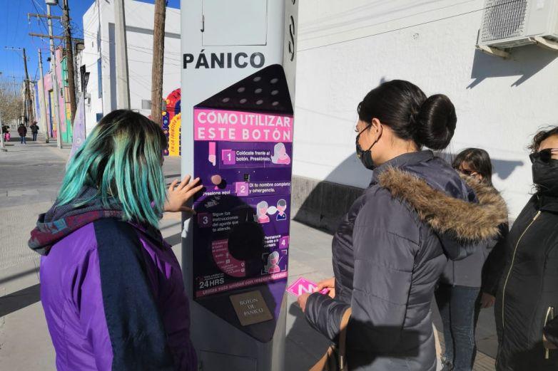 Recorre Andrea Meza corredor seguro para mujeres en Juárez