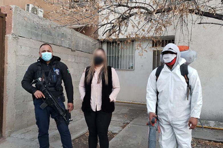 Sanitizan nueve hogares en donde hubo personas enfermas por Covid-19