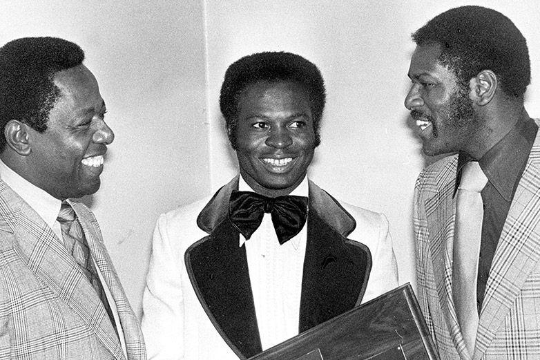 Associated Press   Hank Aaron, Lou Brock y Bob Gibson