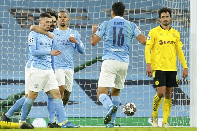El City supera al Dortmund en la Champions