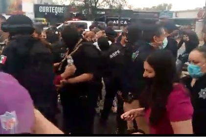 Liberan a manifestantes detenidos en la Gómez Morín