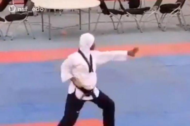 Video: Embarazada de 8 meses gana oro, plata y bronce en taekwondo
