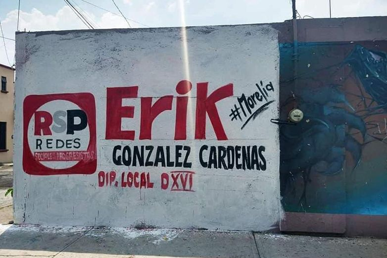 Destruyen mural para promocionar a candidato