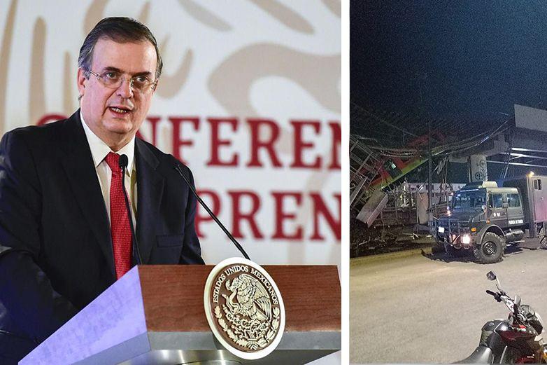 Marcelo Ebrard se solidariza con víctimas; piden su renuncia