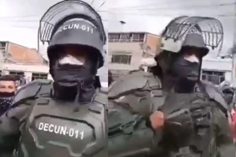 Video: Agente sacó pañuelo blanco y pidió paz en protestas