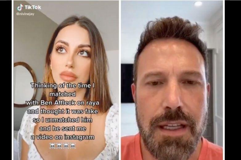 Video: Rechazó a Ben Affleck en app de citas