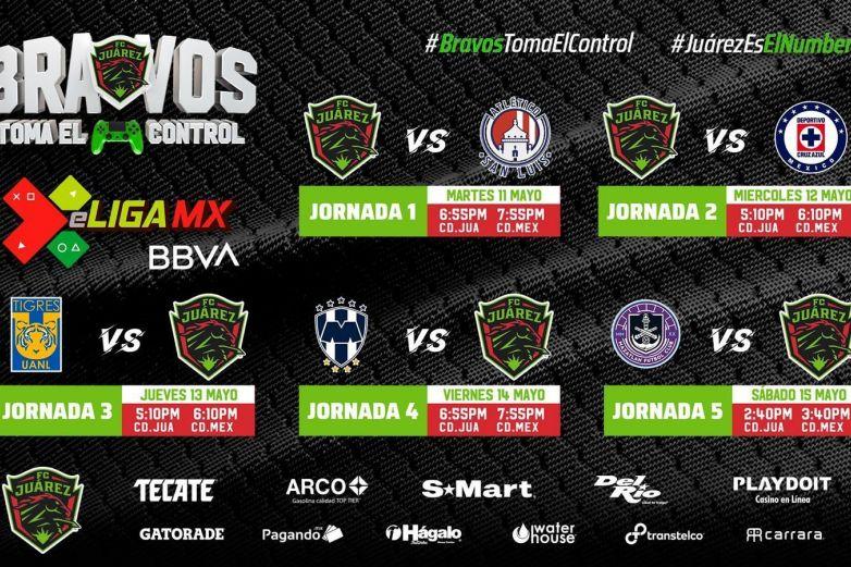 Listo el calendario de los Bravos para la eLiga MX