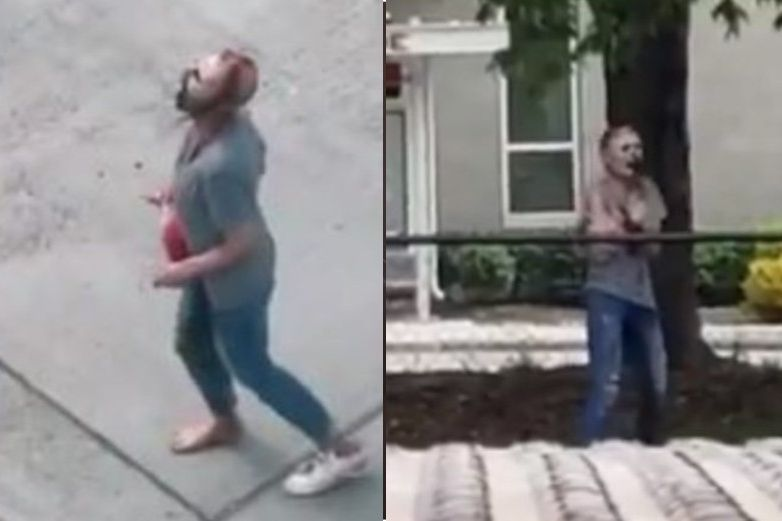 Video: Captan a mujer 'zombie' en las calles de Seattle