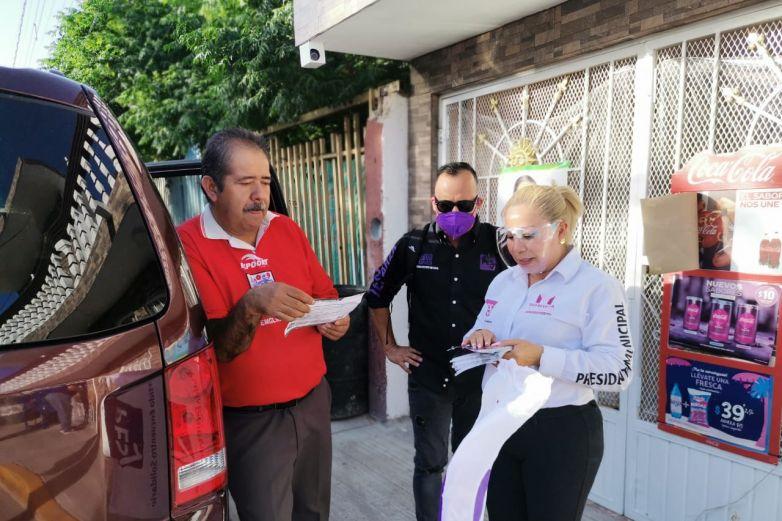 Se compromete Marisela Sáenz con vecinos de Terrenos Nacionales