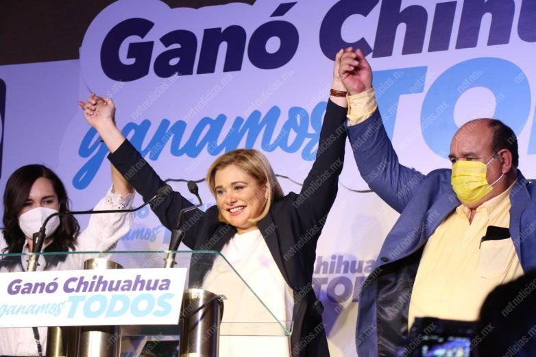 Maru Campos se declara ganadora - Estatal