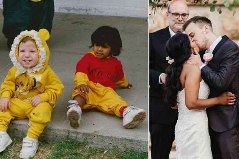 Le pide matrimonio en el kinder y se casan 20 años después