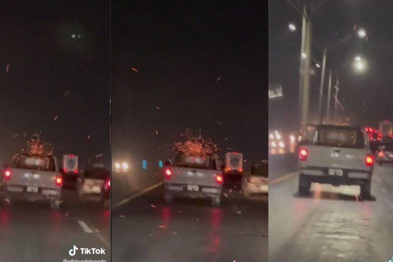 Video: Lleva asador prendido para la carnita asada